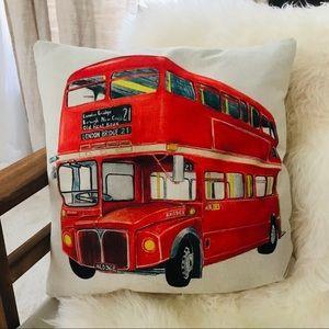 Other - DOUBLE DECKER BUS London pillow cover decor